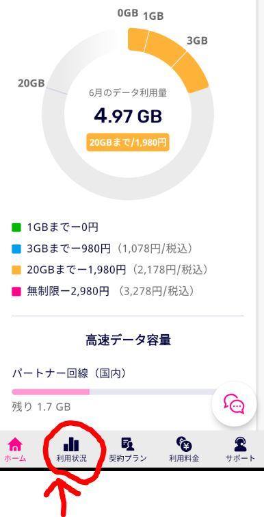my楽天モバイル アプリ版