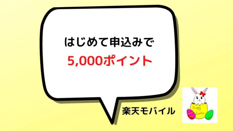 はじめての申込みで5000ポイント